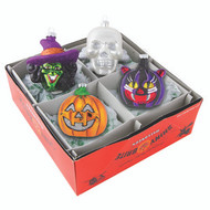 Shiny Brite Halloween s/4 Figural Heads