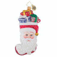 Christopher Radko Stuffed Santa - front
