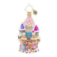Christopher Radko Candy Castle Christmas Little Gem - front