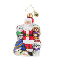 Christopher Radko  Paw For Claus Little Gem -front