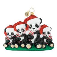 Christopher Radko Holiday Panda Portrait - front