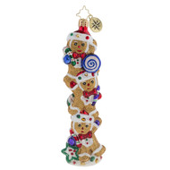 Christopher Radko Gingerbread Balancing Act - front