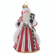 Christopher Radko Peppermint Candy Kringle -front