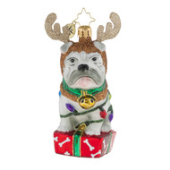 Christopher Radko Deer Little Bull Dog -front