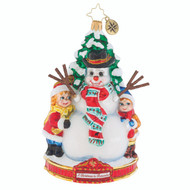 Christopher Radko Ornament of the  Month. A Christmas to Remember collection for 2018. Frosty Fun - front