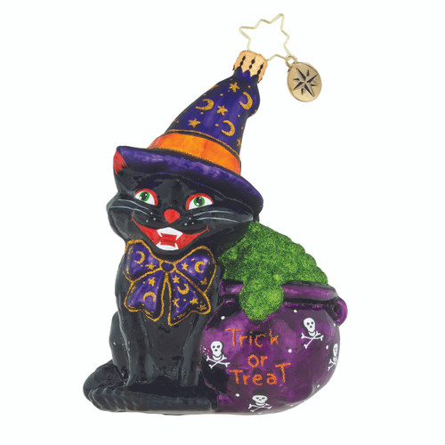 Christopher Radko Catty Cauldron - front