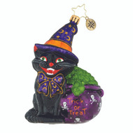 Christopher Radko Catty Cauldron - front