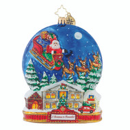 Christopher Radko Midnight Arrival - Ornament of the Month- A Christmas to Remember collection -front