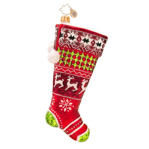 Christopher Radko's Country Stitch Stocking