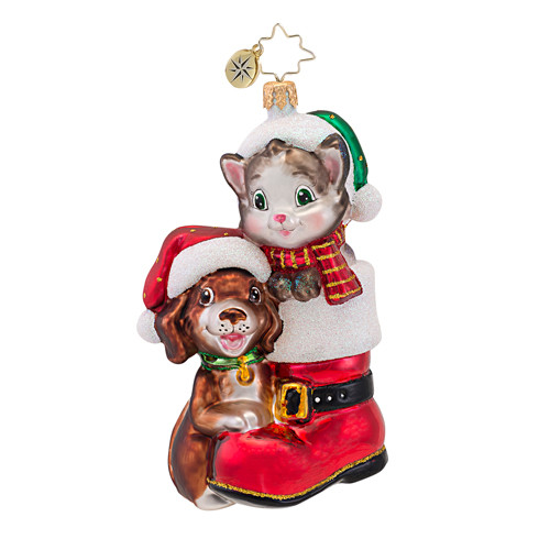 Christopher Radko's Cute in a Boot Animal Awareness Charity ornament