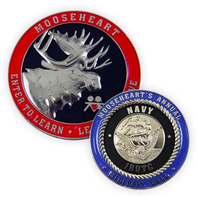 Die-Cast Zinc Metal Challenge Coin