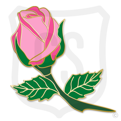 Pink Rose Bud (Flower)