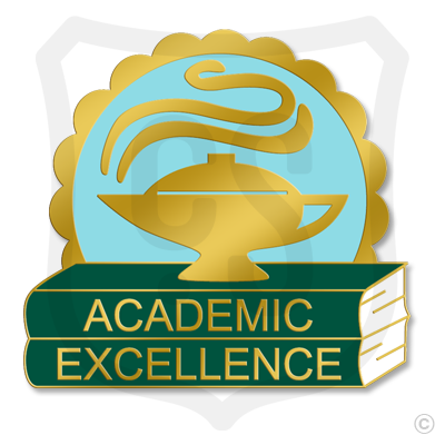 Academic Excellence w/ Lamp & Books
