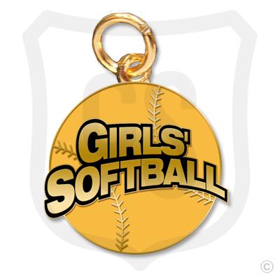 Girls' Softball Charm
