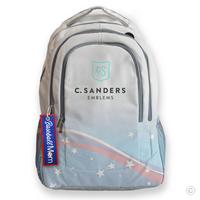 Baseball Mom Bag Tag on Backpack