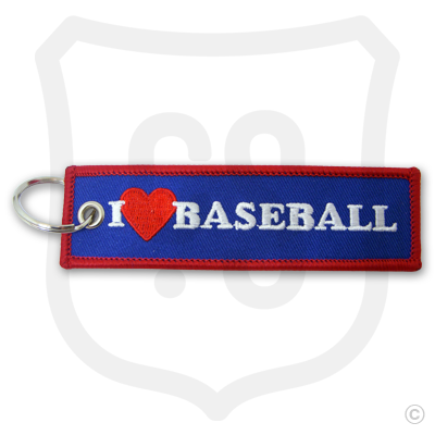 I Love Baseball Bag Tag