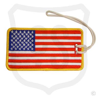 USA Flag Embroidered