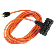 Black Box 100' OR Heavy-Duty Indoor/Outdoor UTIL Cord Triple-Outlet 14/3 GND EPWR46