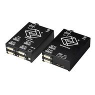 Black Box KVM Extender, Dual DVI-D, USB HID, SM Fiber, Dual Access ACS4201A-R2-SM