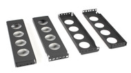 Black Box 2U Center-Mount Conversion Brackets CB2-2U