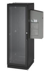 Black Box NEMA 12 Cabinet 5000BTU AC 42U 82.4x42.9x33.7 Tapped Rails 110V CC42U5000T-R2