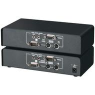 Black Box KVM Extender, VGA, PS/2, RS232 Audio, Single-Access, CATx ACU1022A