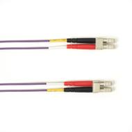 Black Box 1-m, LC-LC, 50-Micron, Multimode, Plenum, Violet Fiber Optic Cable FOCMP50-001M-LCLC-VT