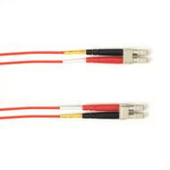 Black Box 1-m, LC-LC, 50-Micron, Multimode, Plenum, Red Fiber Optic Cable FOCMP50-001M-LCLC-RD