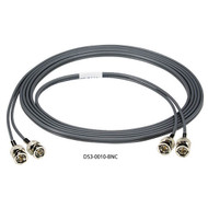 Black Box Dual Coax DS3 Cable, BNC, Male/Male, 10-ft. DS3-0010-BNC