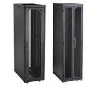 """Black Box Elite Data Cabinet, 84""""H (45U) x 30""""W x 36""""D, 10-32 Rails, PLEXIGLAS F EC45U3036TPMS3NK"""
