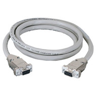 Black Box DB9 Extension Cable with EMI/RFI Hoods, Beige, Female/Female, 10-ft. ( EDN12H-0010-FF