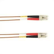 Black Box 1m (3.2ft) LCLC BN OM1 MM Fiber Patch Cable INDR Zip OFNP FOCMP62-001M-LCLC-BR