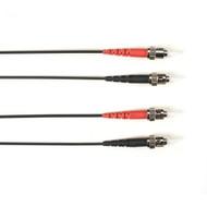 Black Box 1m (3.2ft) STST BK OM1 MM Fiber Patch Cable INDR Zip OFNP FOCMP62-001M-STST-BK