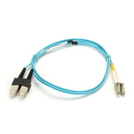 Black Box 1M Duplex Fiber Patch Cable Multimode 50 Mic OM3 OFNR SCLC AQ EFNT010-001M-SCLC