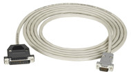Black Box 9-Pin (DB9 Male) to Modem Cable (DB25 Male), 10-ft. (3.0-m) EHM024-0010