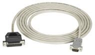 Black Box RS232 Unshielded Modem Cable DB9M/DB25M 10Ft. EHM024-0010