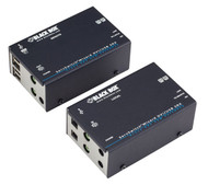 Black Box KVM Extender, Dual Head DVI-D, USB HID, Audio, CATX, Single Access ACU5502A-R3