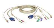 Black Box KVM CABLE VGA, PS/2, USB, AUDIO, DT PRO SERIES, 6FT EHN7002021-0006