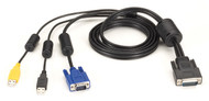 Black Box KVM SECURE SWITCH CABLE VGA, USB, CAC USB TO HD26, 6FT EHNSECURE3-0006