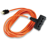 Black Box 3 25-Ft In/Outdoor Ext Cords, Triple-Outlet, 14/3 Gnd, Orange EPWR40