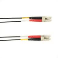 Black Box 1m (3.2ft) LCLC BK OM2 MM Fiber Patch Cable INDR Zip OFNR FOCMR50-001M-LCLC-BK