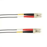 Black Box 1-m, LC-LC, 50-Micron, Multimode, PVC, Gray Fiber Optic Cable FOCMR50-001M-LCLC-GR