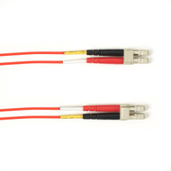 Black Box 1-m, LC-LC, 50-Micron, Multimode, PVC, Red Fiber Optic Cable FOCMR50-001M-LCLC-RD