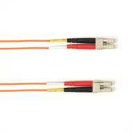 Black Box 1m (3.2ft) LCLC OR OM1 MM Fiber Patch Cable INDR Zip OFNR FOCMR62-001M-LCLC-OR