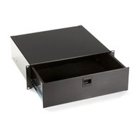 Black Box Rackmount Media Storage Drawer, 3U, Black RMMT18