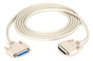 Black Box DB25 Extension Cable, DB25 Male, DB25 Female, 10-ft. (3.0-m) BC00705