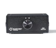 Black Box Desktop RJ45 2 to 1 CAT5 Ethernet 10/100 Mbps Manual Switch SWJ-100A