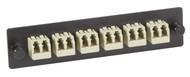 Black Box Black Box Connect Standard Fiber Adapter Panel - Bronze Sleeves, (6) L FOAP-LC-B-12F
