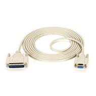 Black Box AT Serial Printer Cable, DB25 Male/DB9 Female, 10-ft. (3.0-m) BC08000-0010-MF