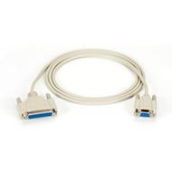 Black Box AT Serial Printer Cable, DB25 Female/DB9 Female, 6-ft. (1.8-m) BC19000-0006-FF